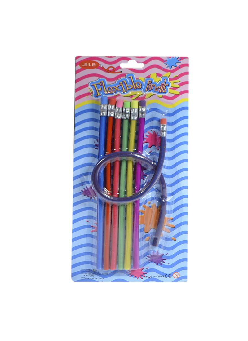Набор карандашей с ластиком Гнущийся (7шт) (PNG-7) (Листопадова)
