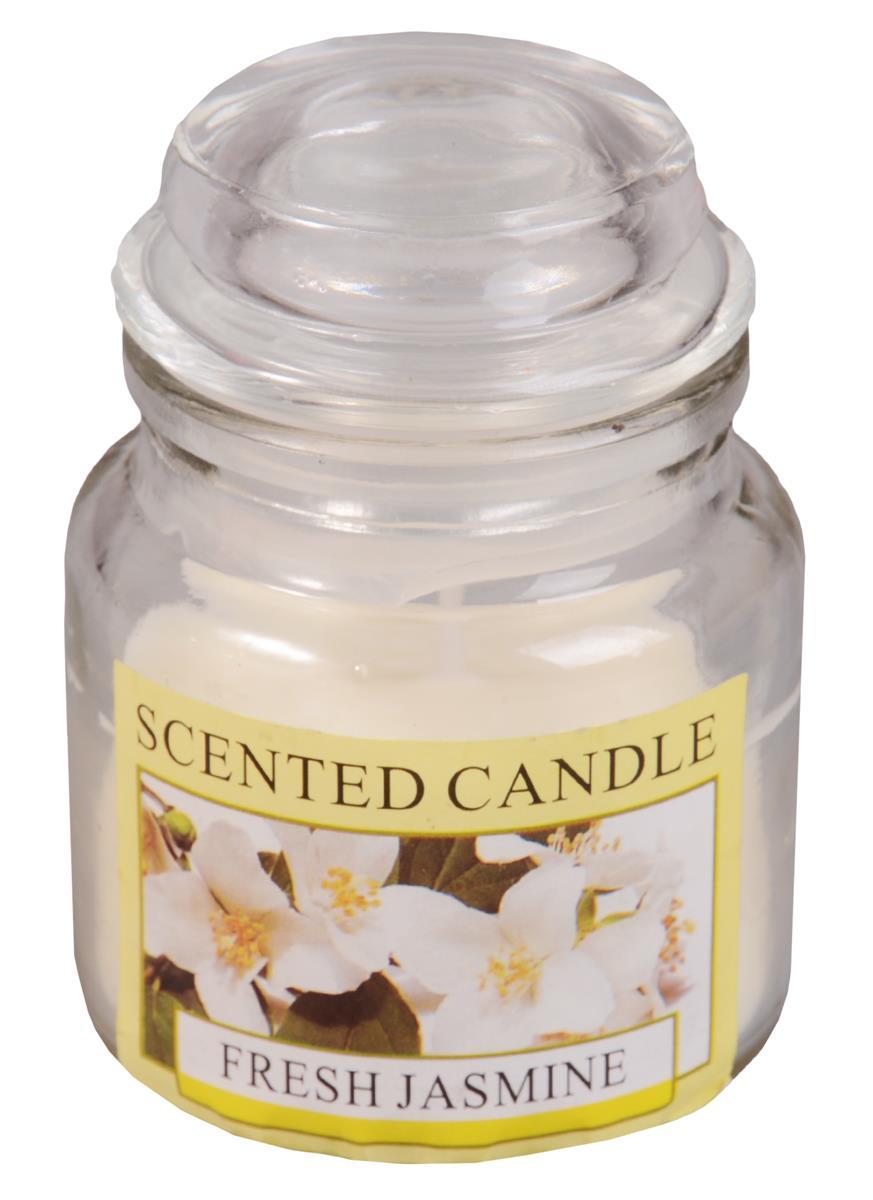 Свеча ароматическая в стеклянной баночке с крышкой