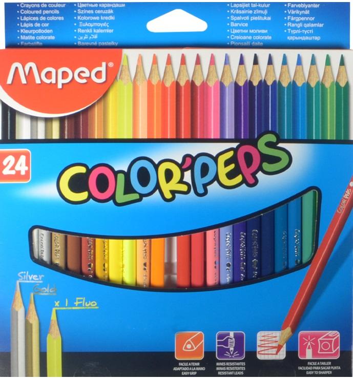 "Карандаши цветные ""COLORPEPS"", 24 цв., MAPED"
