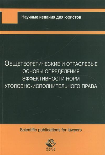 Общетеоретические и отраслевые основы определения эффективности норм уголовно-исполнительного права