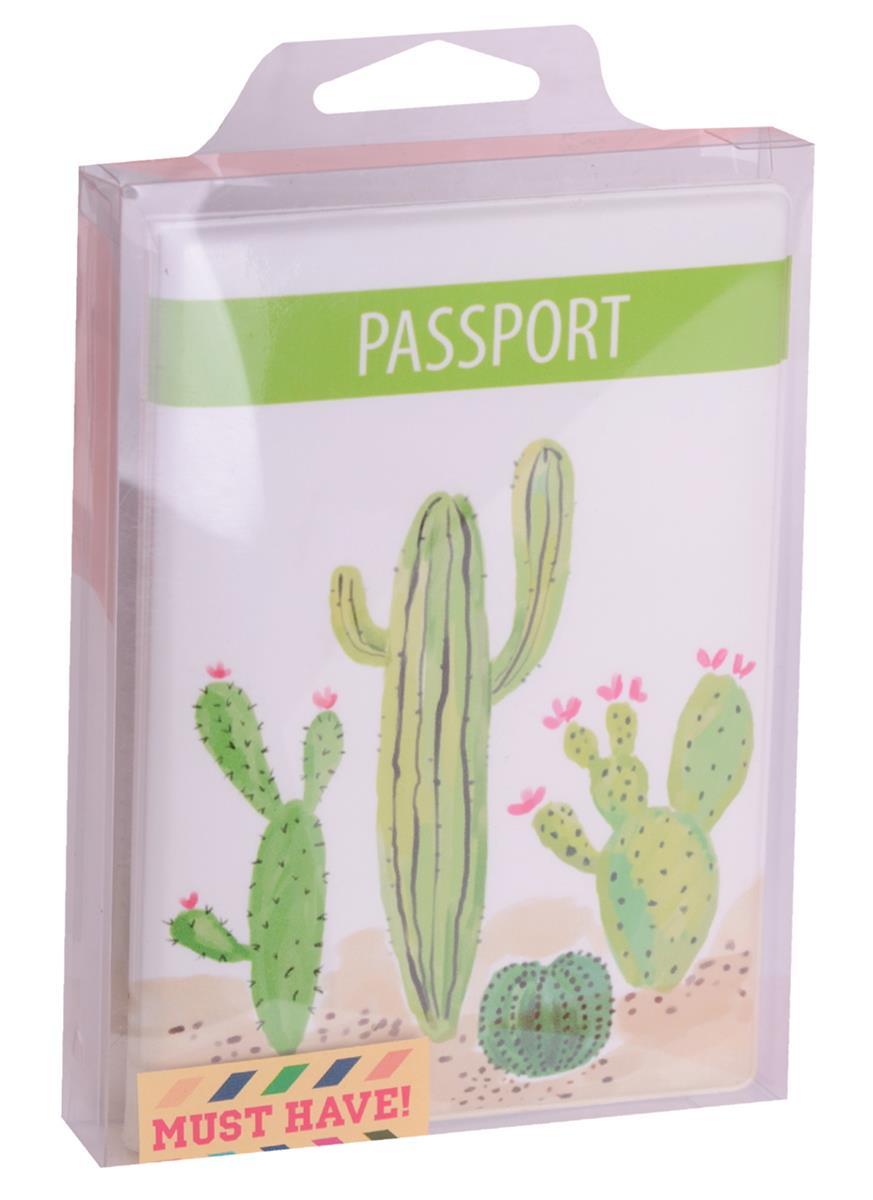 Обложка для паспорта Кактусы