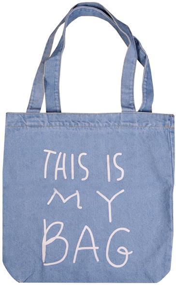 Сумка джинсовая на молнии This is my bag (37х33)