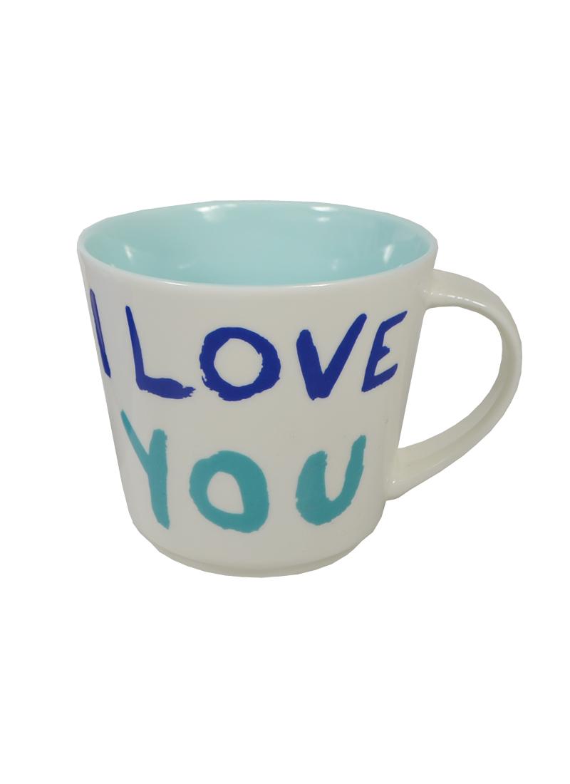 Кружка I Love You синяя в подарочной упаковке (300мл) (203-231) (Авангард)