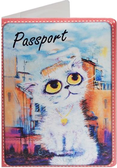 """Обложка для паспорта """"Cats in the City: Облакокошечка"""""""