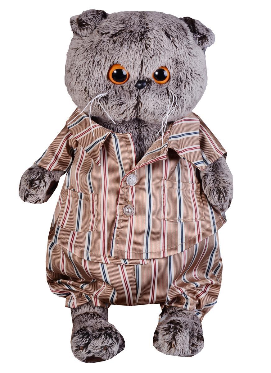 Мягкая игрушка Басик в шелковой пижамке (25 см)