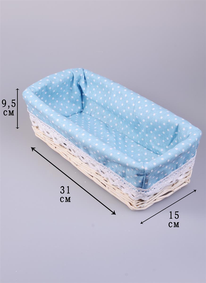 Короб для хранения плетеный Совушки и клетки (31х15х9,5)