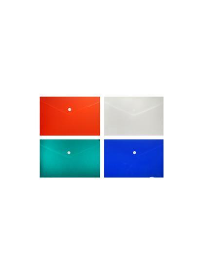 Папка-конверт А5 на кнопке пластик 0,18мм, ассорти, Tramix
