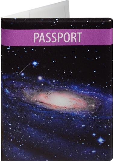 """Обложка для паспорта """"Космос. Туманность на черном фоне"""""""