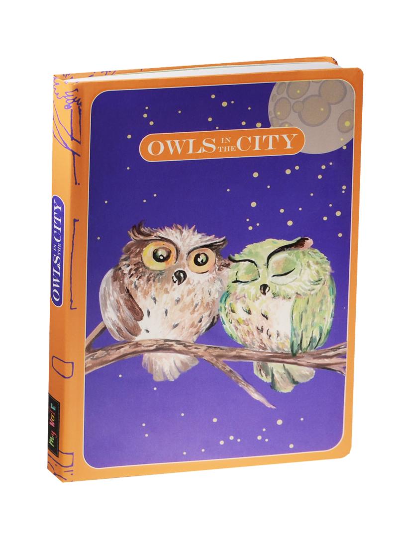 Блокнот Owls in The City Две совы на ветке