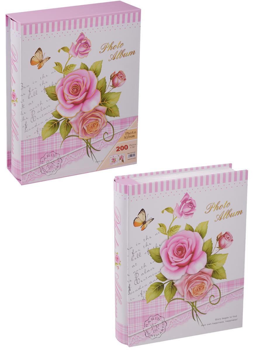 Фотоальбом на 200 фото Розы и Бабочки (10х15) (коробка)
