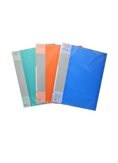 Папка 20ф А4 пластик 0,7мм, полупрозрачная, ассорти, Berlingo