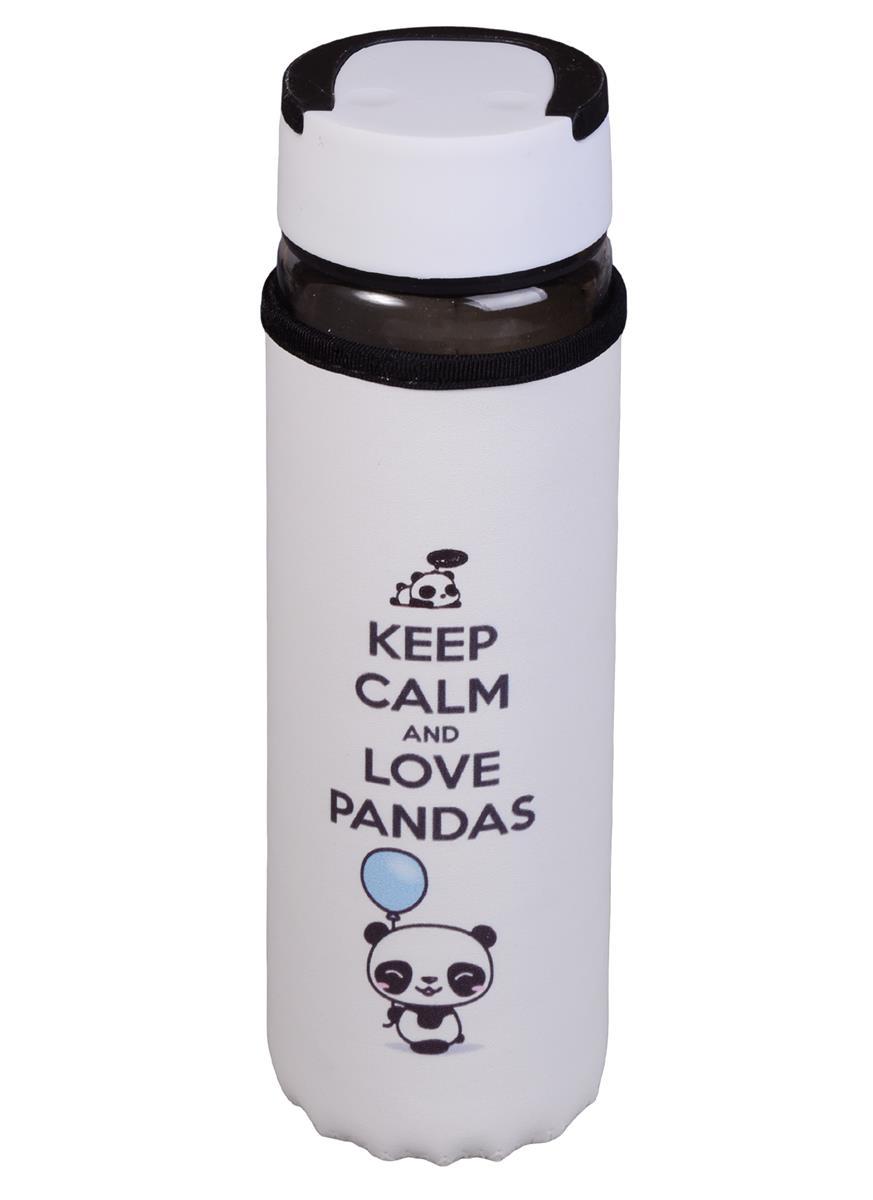 Бутылка в чехле Панда Keep Calm (стекло) (500мл)