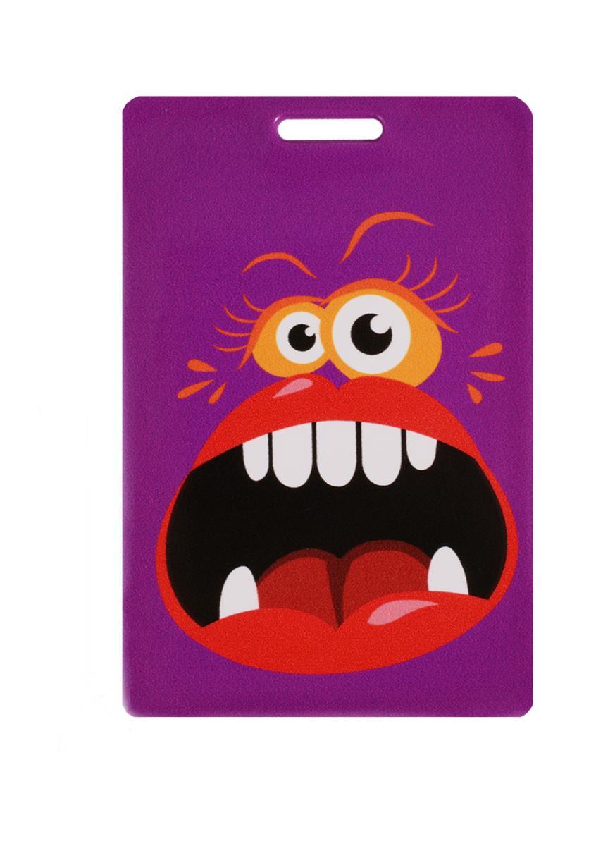 Чехол для карточек Монстр фиолетовый