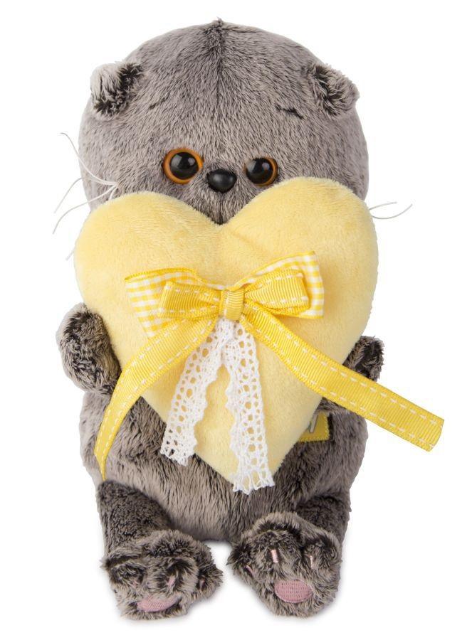 Мягкая игрушка Басик BABY с сердечком (20 см) (BB-006)