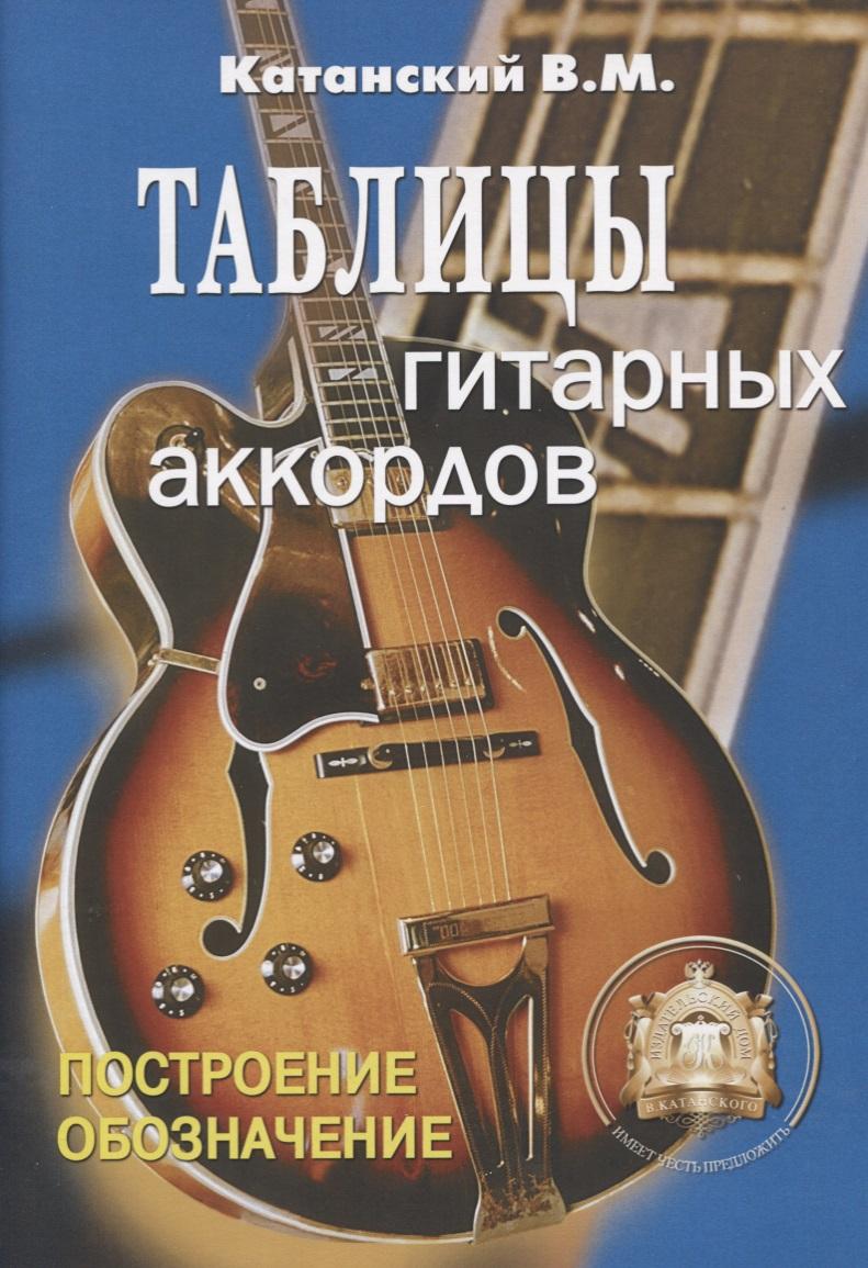 Таблицы гитарных аккордов. Обозначение. Построение.