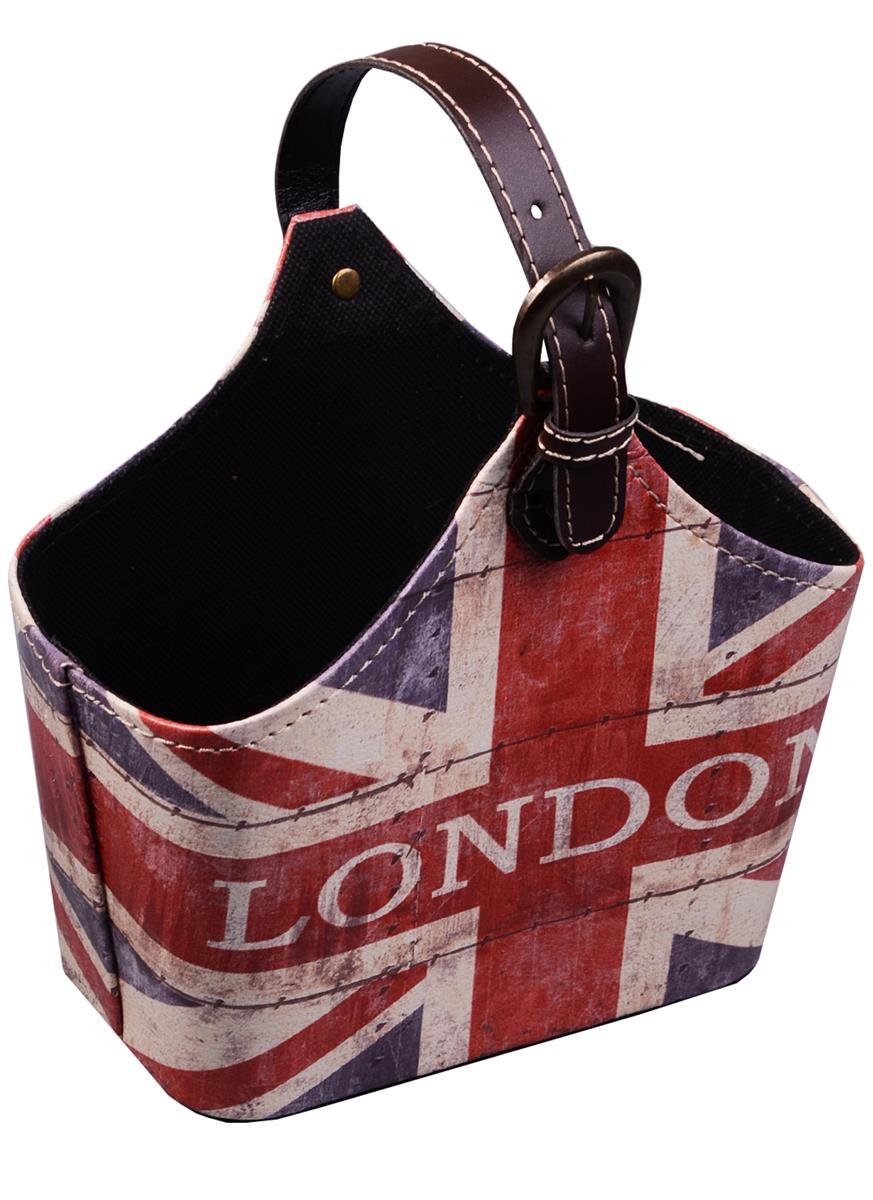 Корзинка для мелочей с ручкой Британский флаг London (18х25)