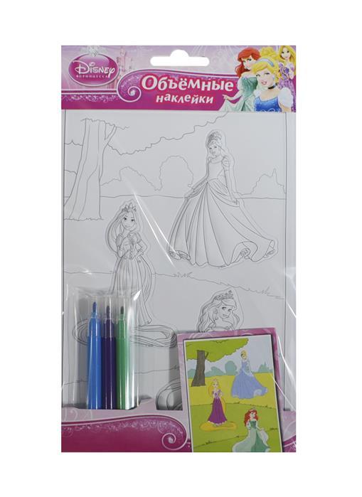 Шахова А. (ред.) Disney. Принцесса. Объемные наклейки (+фломастеры) наклейки объемные disney человек паук 00553
