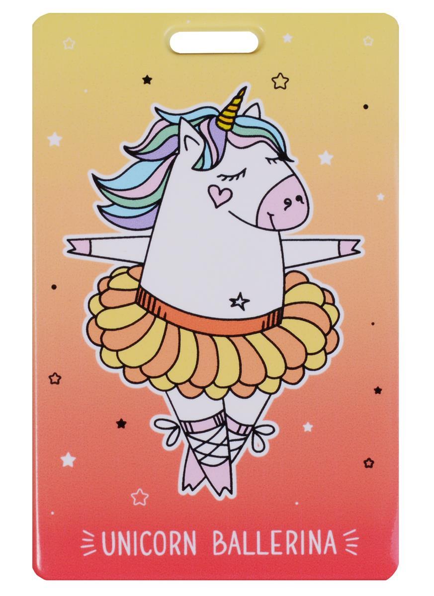 Чехол для карточек Unicorn ballerina красный градиент
