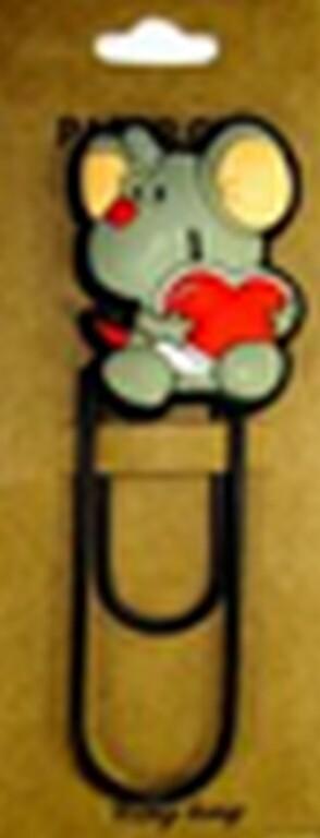 Скрепка - закладка Мышь
