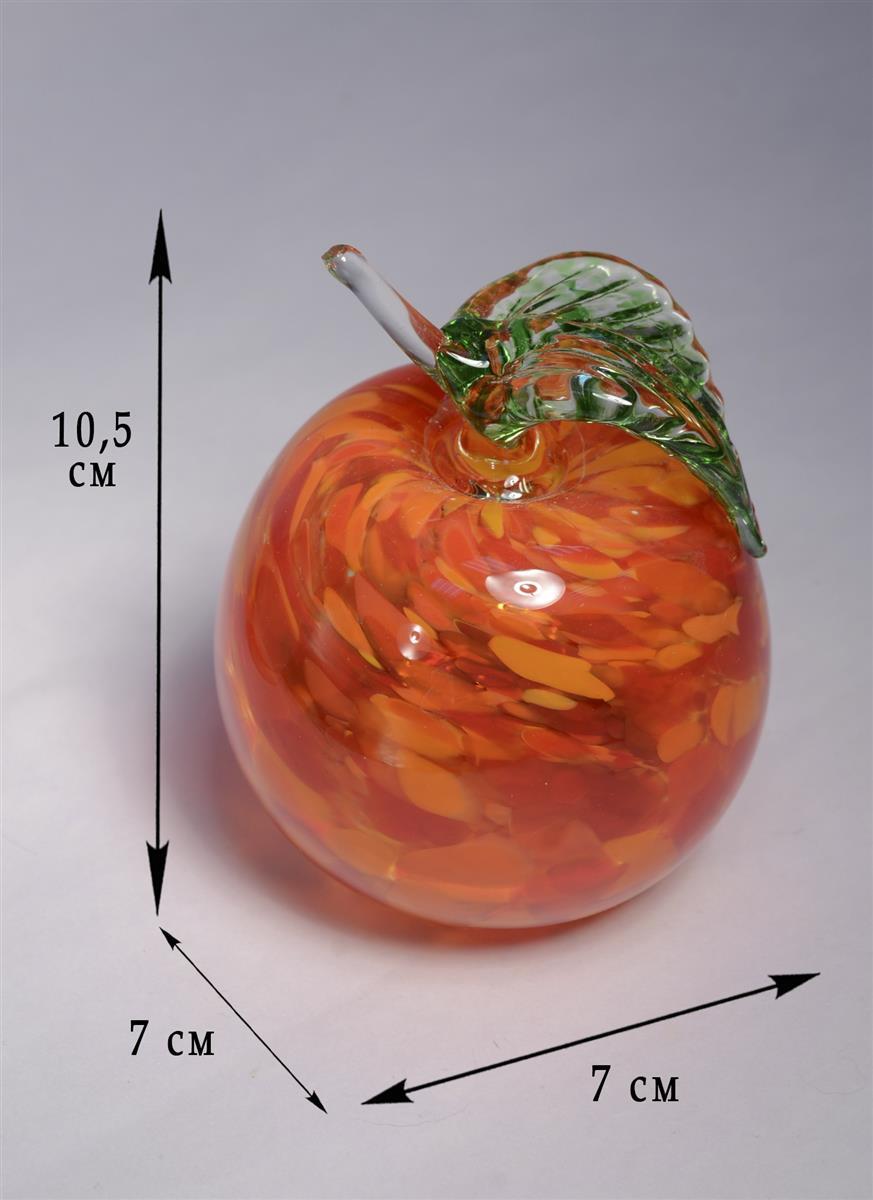 Сувенир стекло Яблоко красное (9 см)