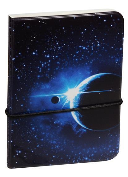 Визитница Космос Планеты на синем фоне