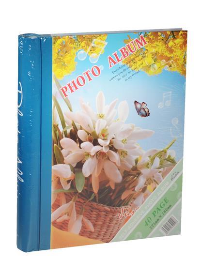 Фотоальбом магнитный 20 листов Подснежники (24х29)