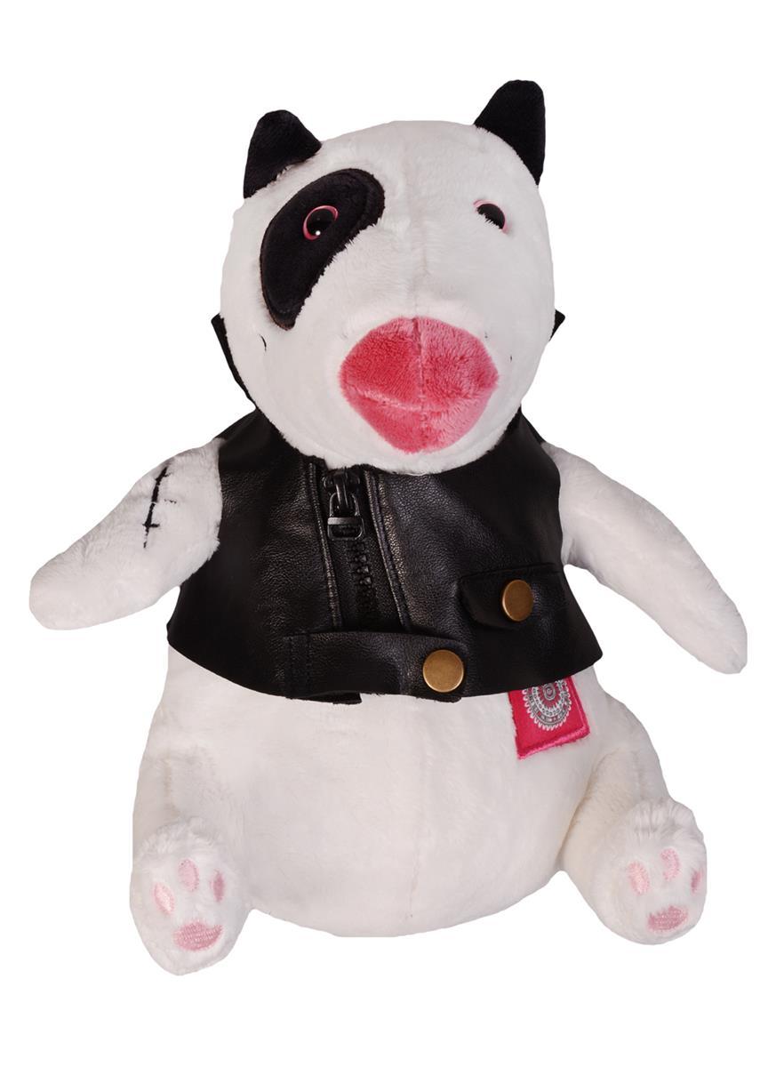 Мягкая игрушка НГ Бультерьер Арнольд в кожаной куртке (25 см)