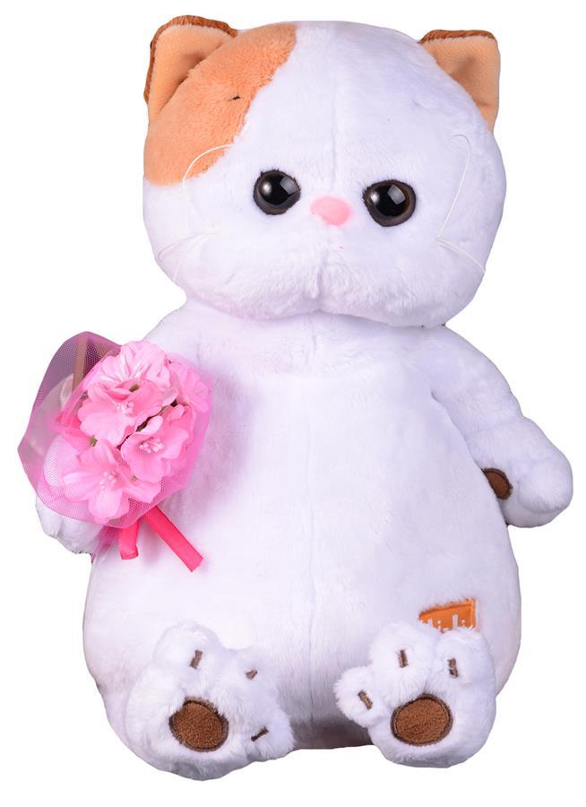 Мягкая игрушка Ли-Ли с розовым букетом (27 см)