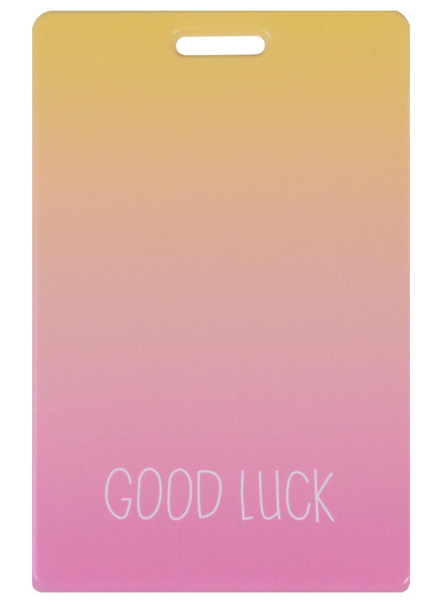 Чехол для карточек Цветной градиент Good luck