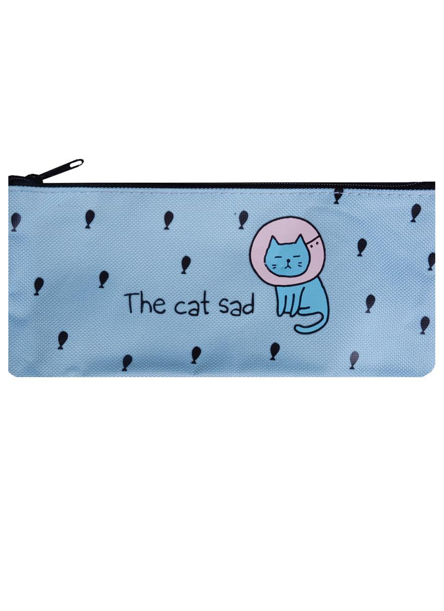 "Пенал-косметичка ""The Cat Sad"", ткань"