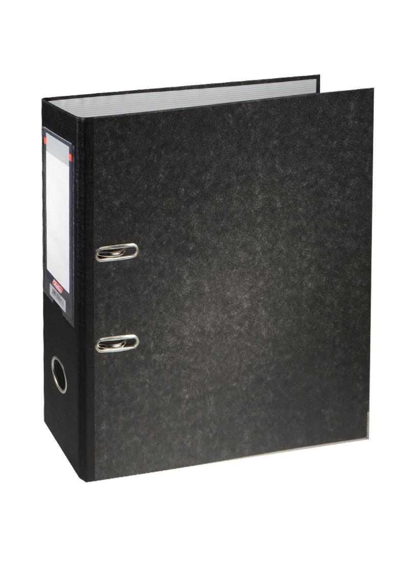 "Папка архивная ""Черный мрамор"", А4, 70 мм, Hatber"