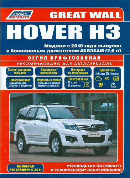 Great Wall HOVER H3. Модели с 2010 года выпуска с бензиновым двигателем 4G63S4M (2,0 л.). Включены рестайлинговые модели с 2011 года выпуска. Руководство по ремонту и техническому обслуживанию б у авто great wall wall hover 2 4p mt 5w