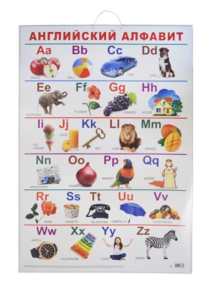 Английский алфавит. Учебный плакат. Пособие для развивающего обучения