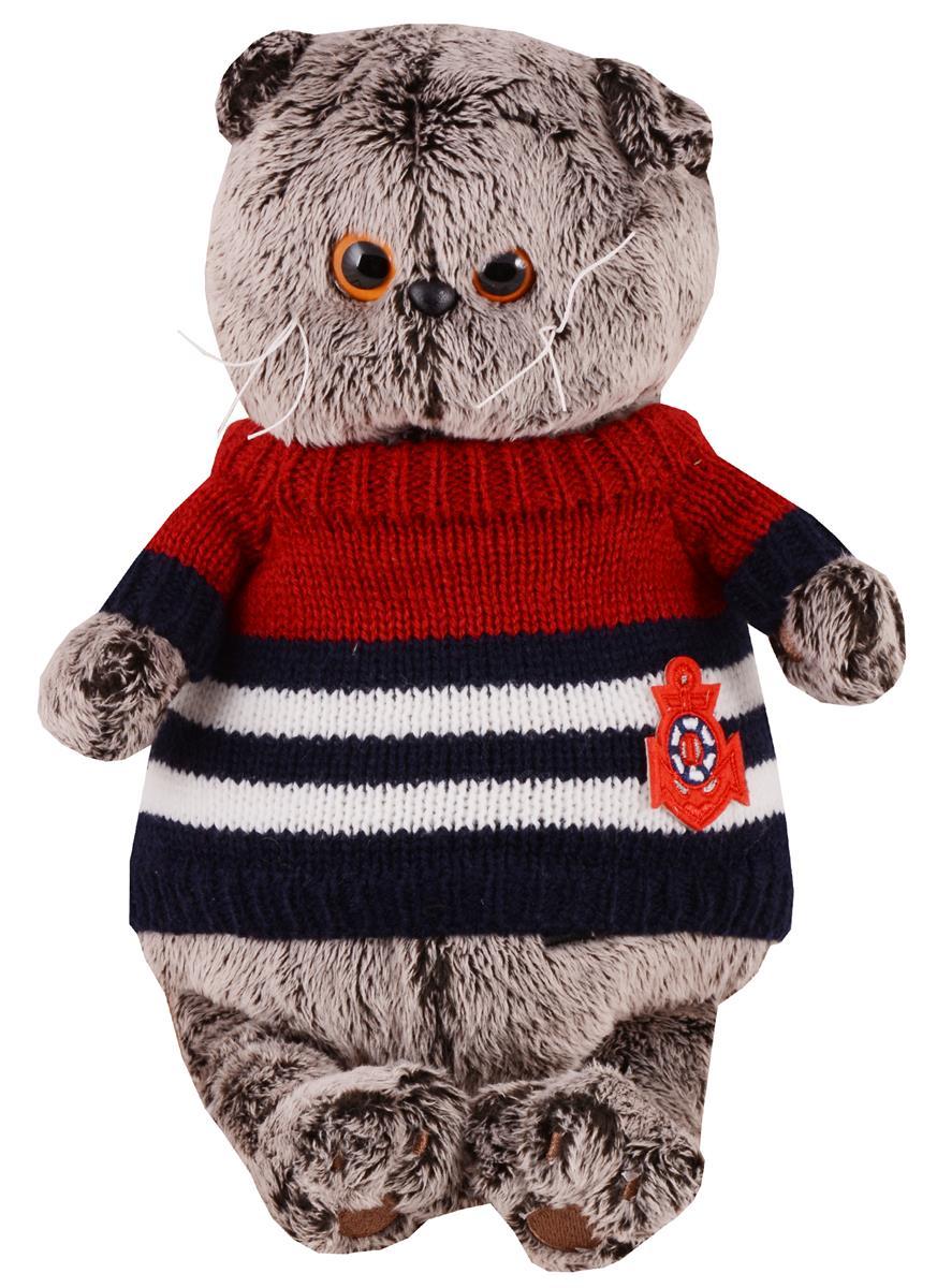 Мягкая игрушка Басик в морском свитере (22 см)