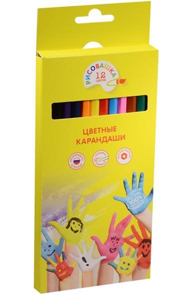 """Карандаши цветные """"Рисовашка"""", 12 цв."""