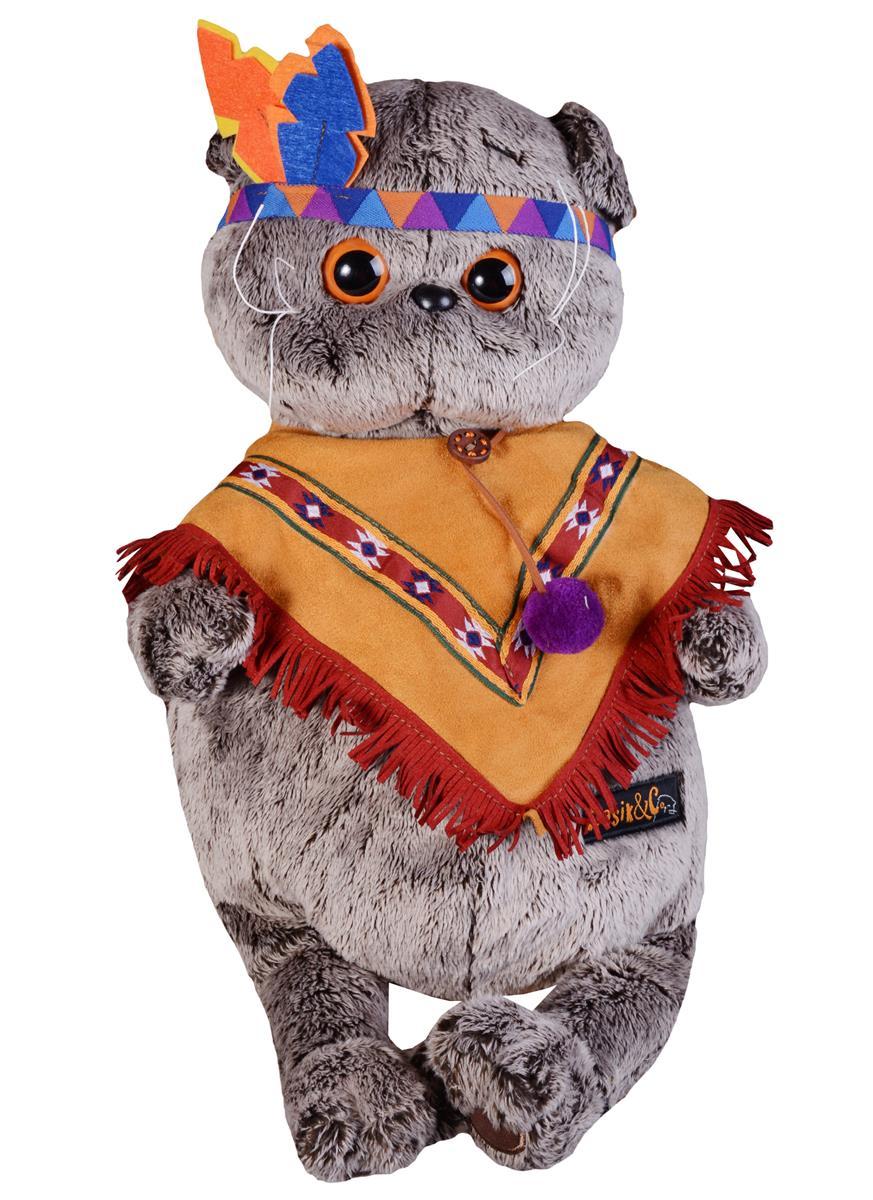 Мягкая игрушка Басик в костюме индейца( 30 см)