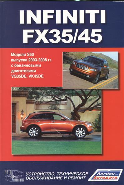 Infiniti FX35/45. Модели S50 выпуска с 2003-2008 г. с бензиновыми двигателями VQ35DE, VK45DE. Руководство по эксплуатации, устройство, техническое обслуживание и ремон 50 копеек cgvl 2003 года