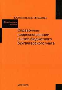 Справочник корреспонденции счетов бюджет. бух. учета