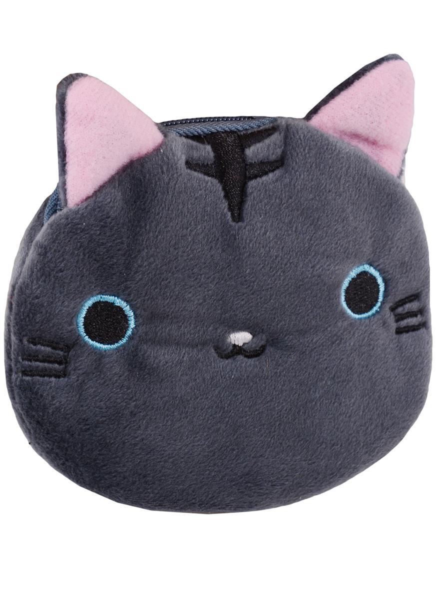 Косметичка-кошелек Мордочка котика (10см) (текстиль)