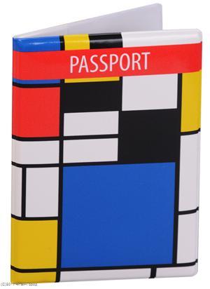 Обложка для паспорта Пит Мондриан (ПВХ бокс)