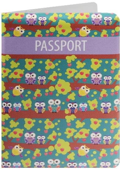 """Обложка для паспорта """"Совы на ветках"""""""