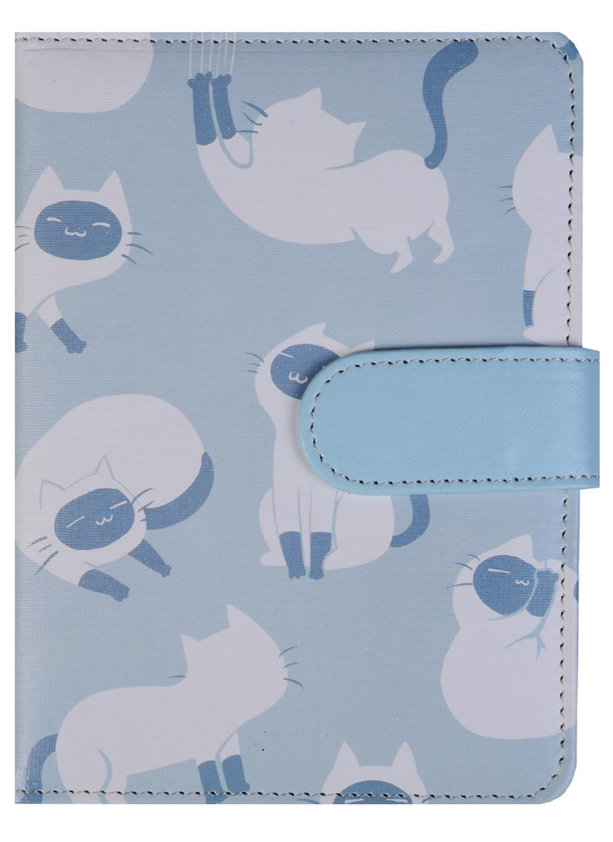Блокнот Сиамская кошка с магнитной застежкой (192стр)