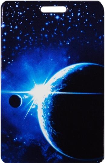 """Чехол для карточек """"Космос. Планета на синем фоне"""""""
