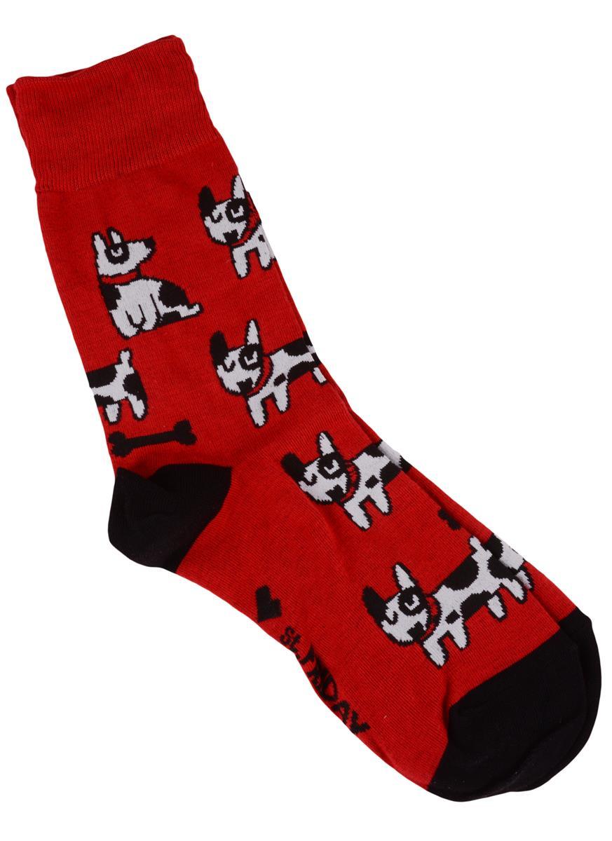 Дизайнерские носки Игры псов красные (размер 38-41)