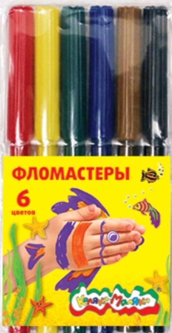 """Фломастеры """"Каляка"""", 6 цв."""