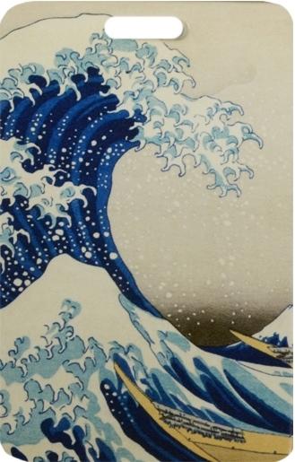 """Чехол для карточек """"Кацусика Хокусай. Большая волна"""""""
