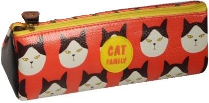 """Пенал на молнии """"Cat Family"""""""