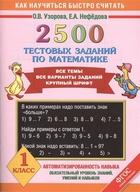 2500 тестовых заданий по математике. Все темы. Все варианты заданий. Крупный шрифт. 1 класс