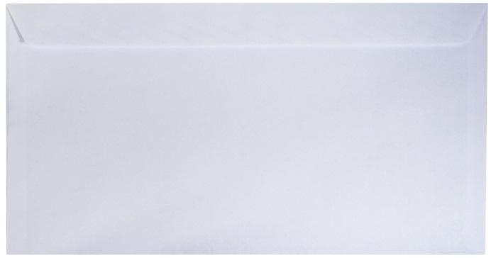 Конверт белый, 110х220мм, 25 шт.
