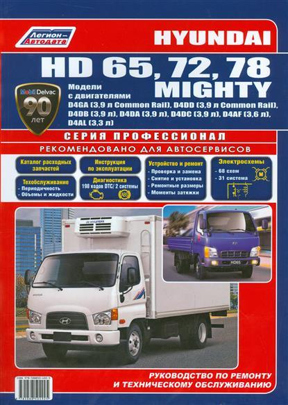 цена на Hyundai HD 65, 72, 78 Mighty. Модели с двигателями D4GA (3,9 л.), D4DD (3,9 л.), D4DB (3,9 л.), D4DA (3,9 л.), D4DС (3,9 л.), D4AF (3,6 л.), D4AL (3,3 л.). Руководство по ремонту и техническому обслуживанию